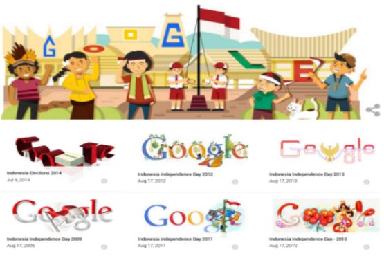 Google Doodle Kemerdekaan Republik Indonesia 69 karya asli anak bangsa