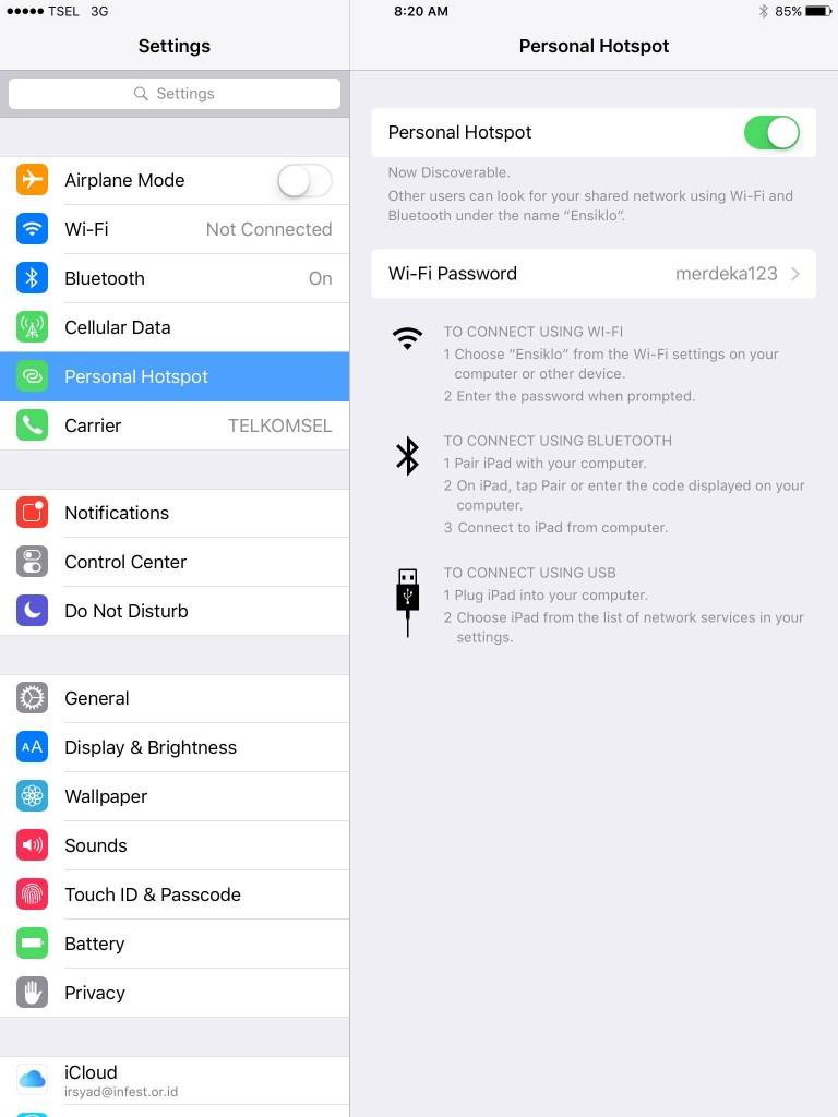 Mengganti nama ipad atau iphone